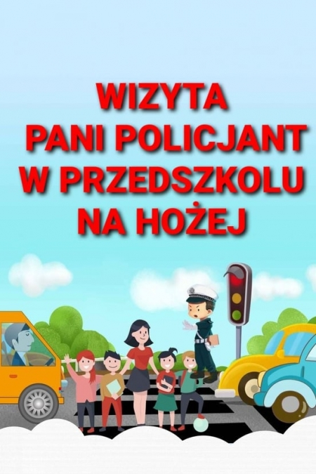 Wizyta pani policjant w przedszkolu na Hożej